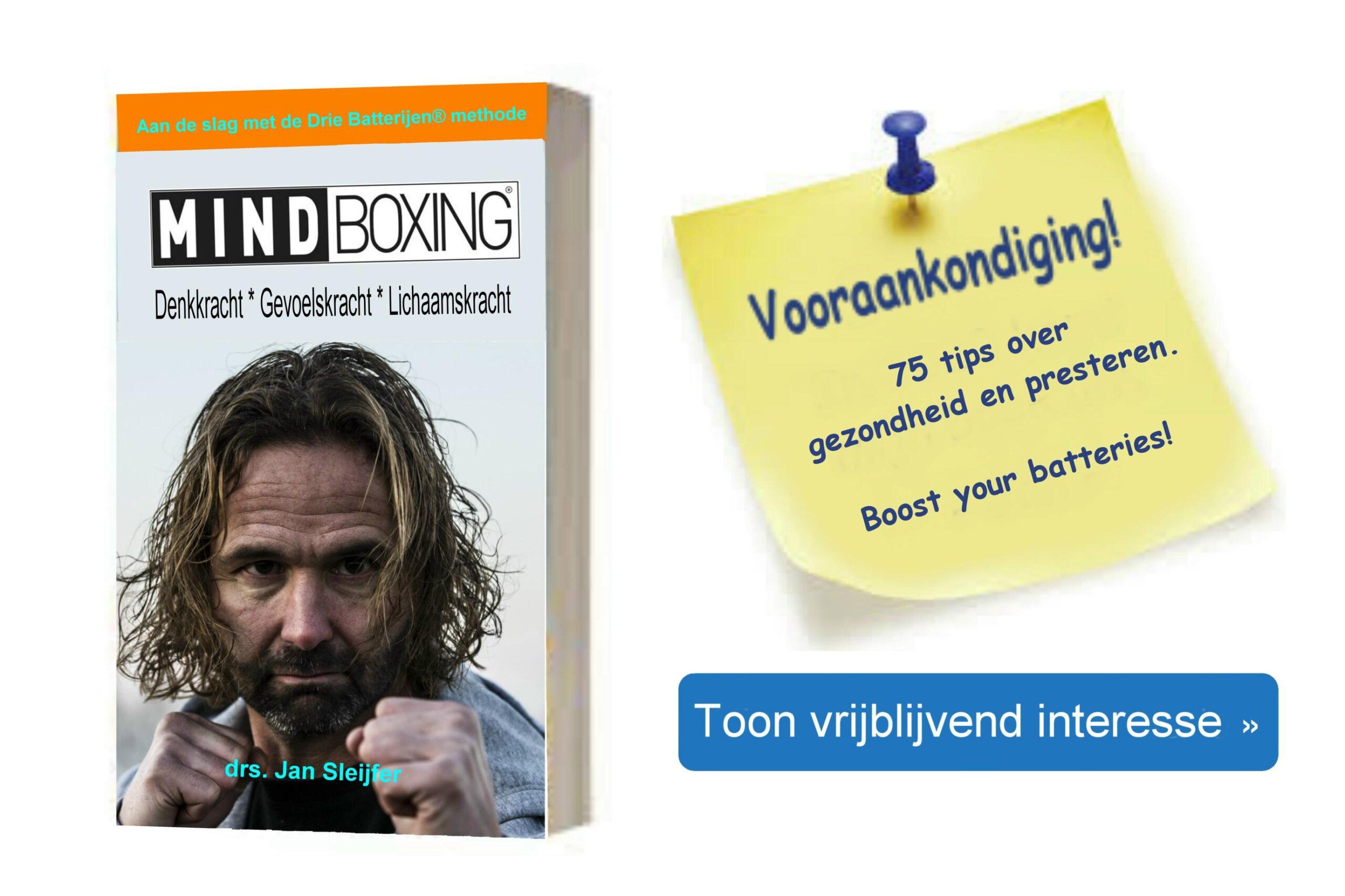Vooraankondiging boek MINDBOXING®